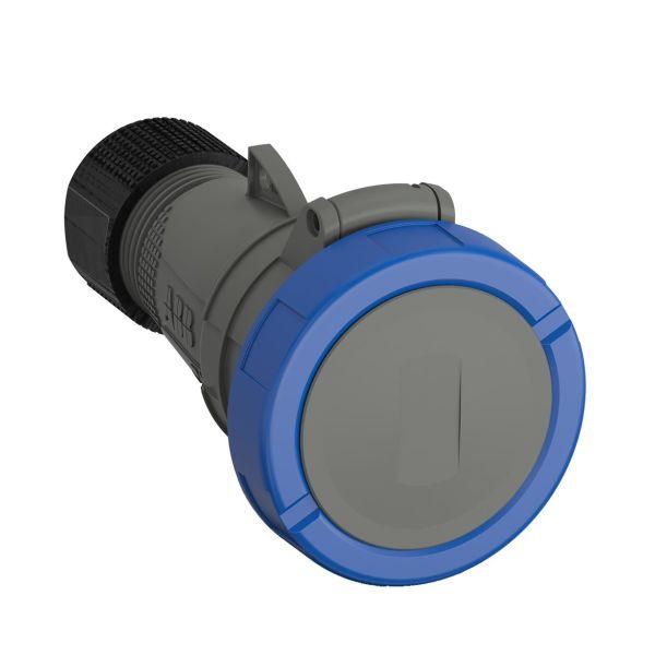 ABB 2CMA101142R1000 Jatkopistorasia pikaliitettävä, tärinänkestävä Sininen, 32 A, 3-napainen