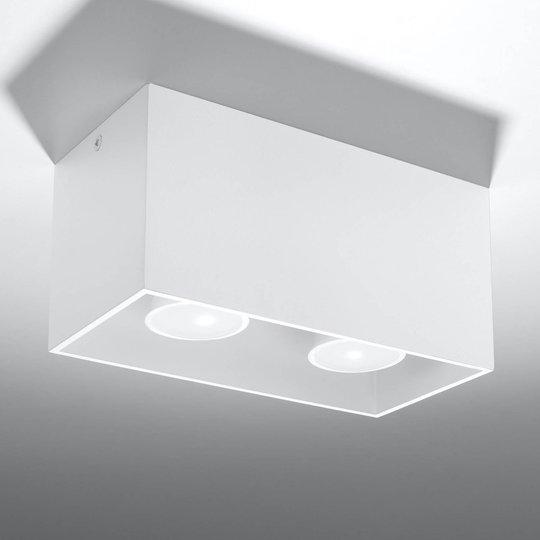 Ara Maxi taklampe i aluminium 2lk. hvit