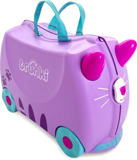 Trunki Cassie The Cat Trillekoffert 18L, Purple