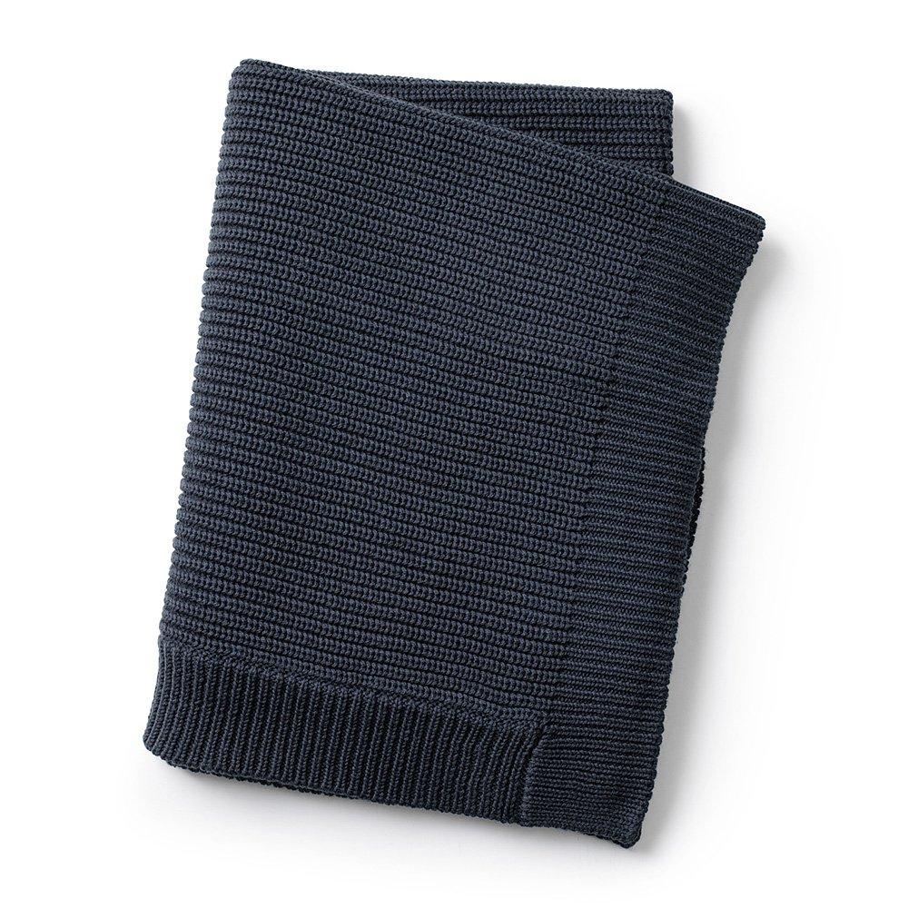 Elodie Details - Wool Knitted Blanket - Juniper Blue