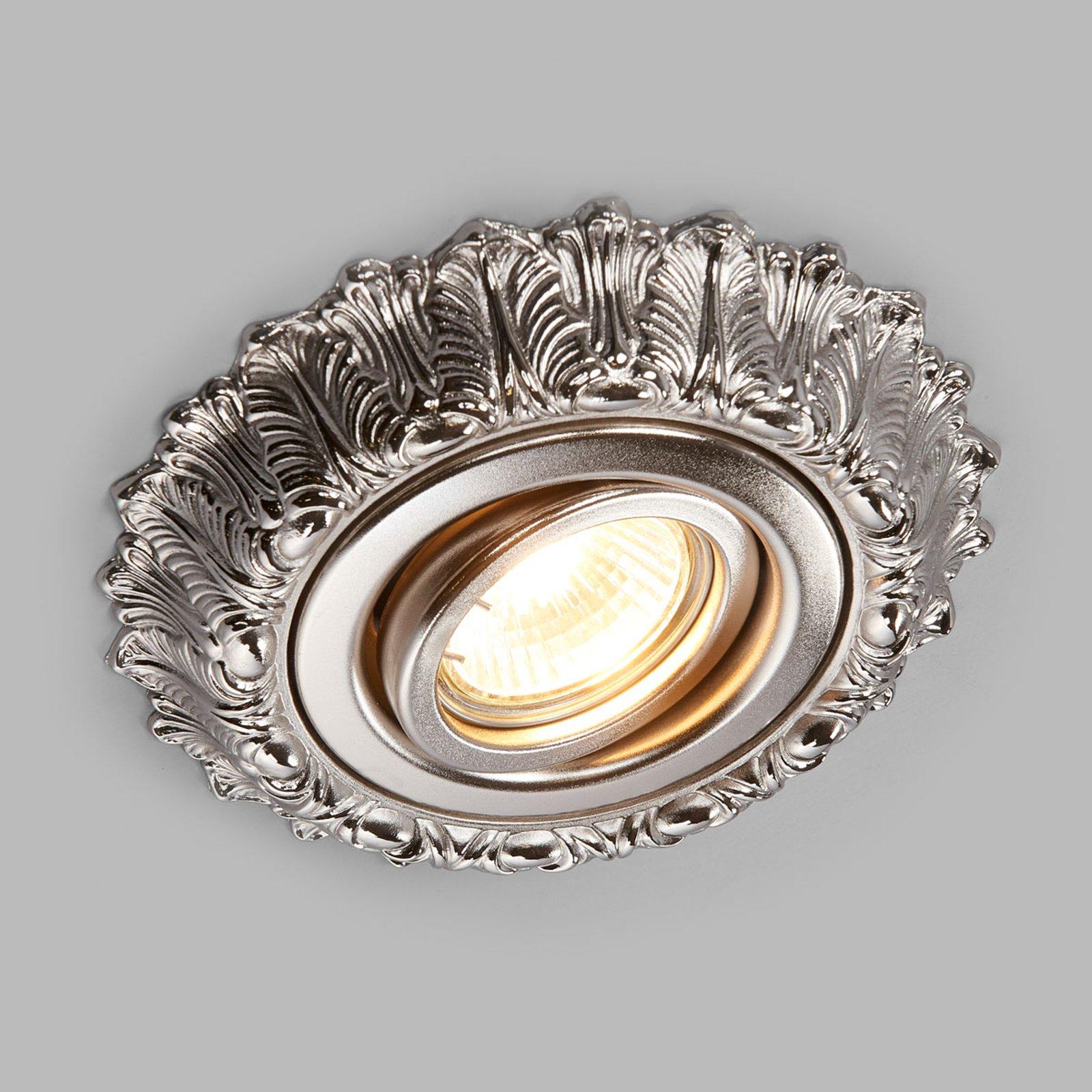 Brigite – innfellingsspot i antikk nikkel