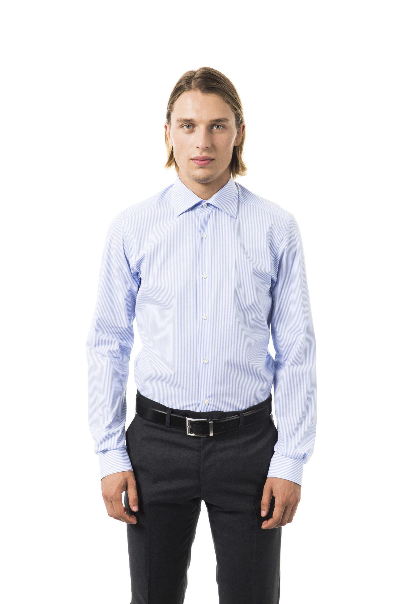 Uominitaliani Men's Cielo Shirt Light Blue UO1394664 - M