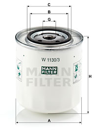 Öljynsuodatin MANN-FILTER W 1130/3