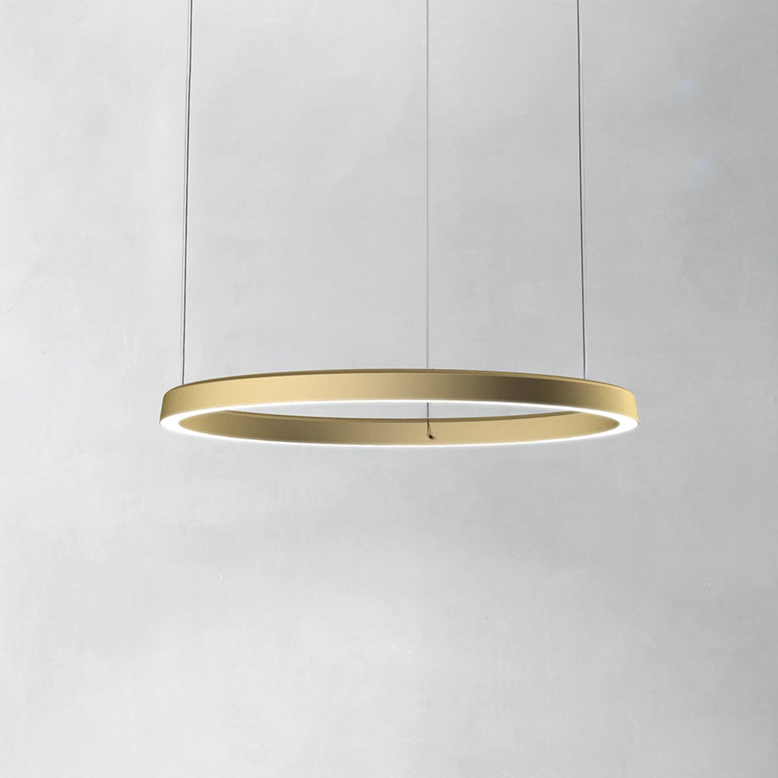 Luceplan Compendium Circle 72 cm, messinki