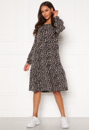 Happy Holly Liz flounce dress Leopard 36/38