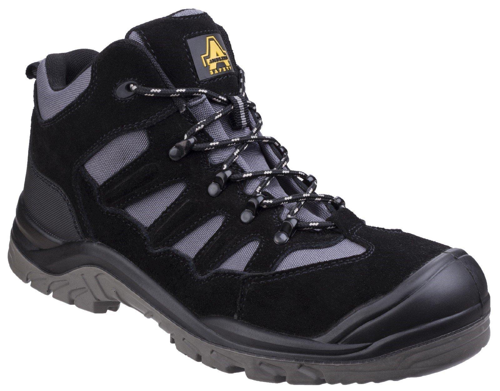 Amblers Unisex Safety Lightweight Hiker Boot Black 25508 - Black 4