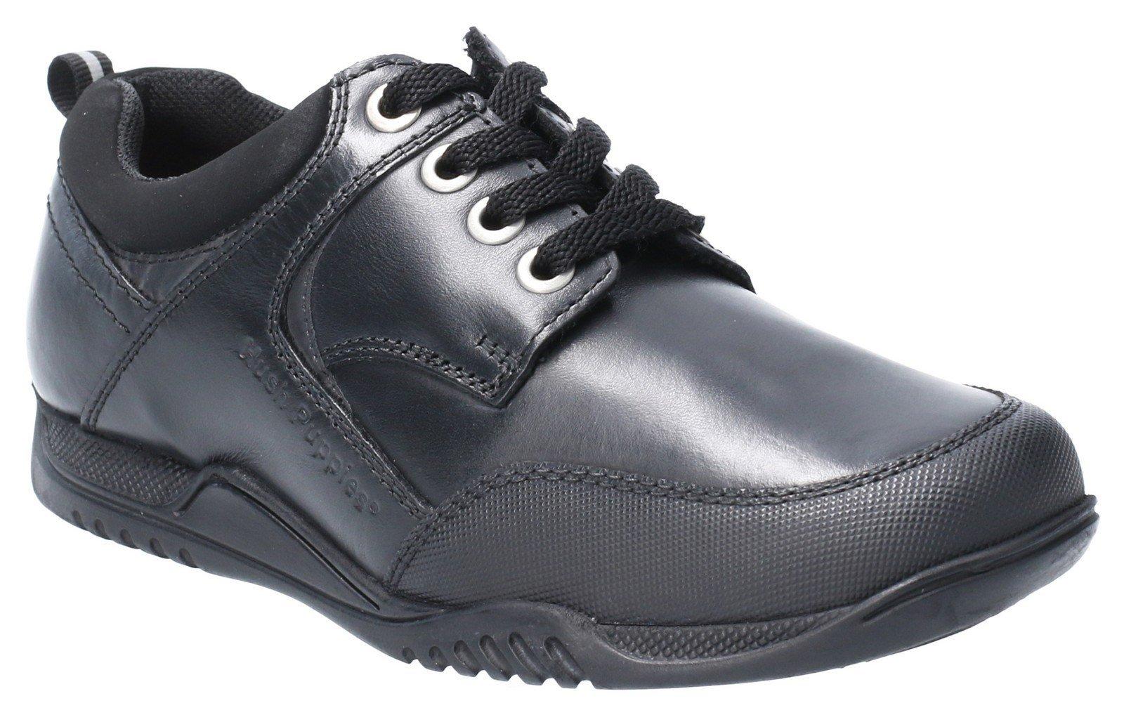 Hush Puppies Men's Dexter Jnr Lace Up School Shoe Black 28971 - Black 10 UK