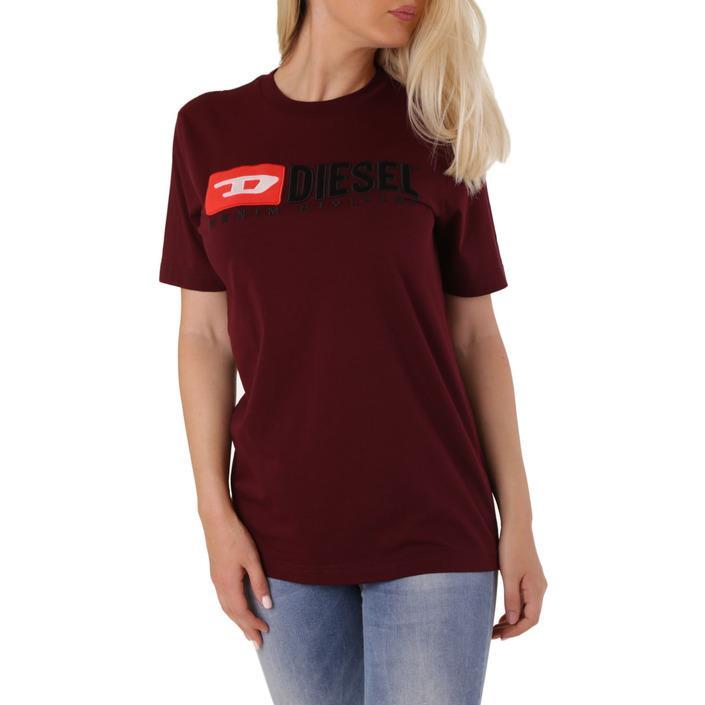 Diesel Women's T-Shirt Red 302489 - red-1 2XS
