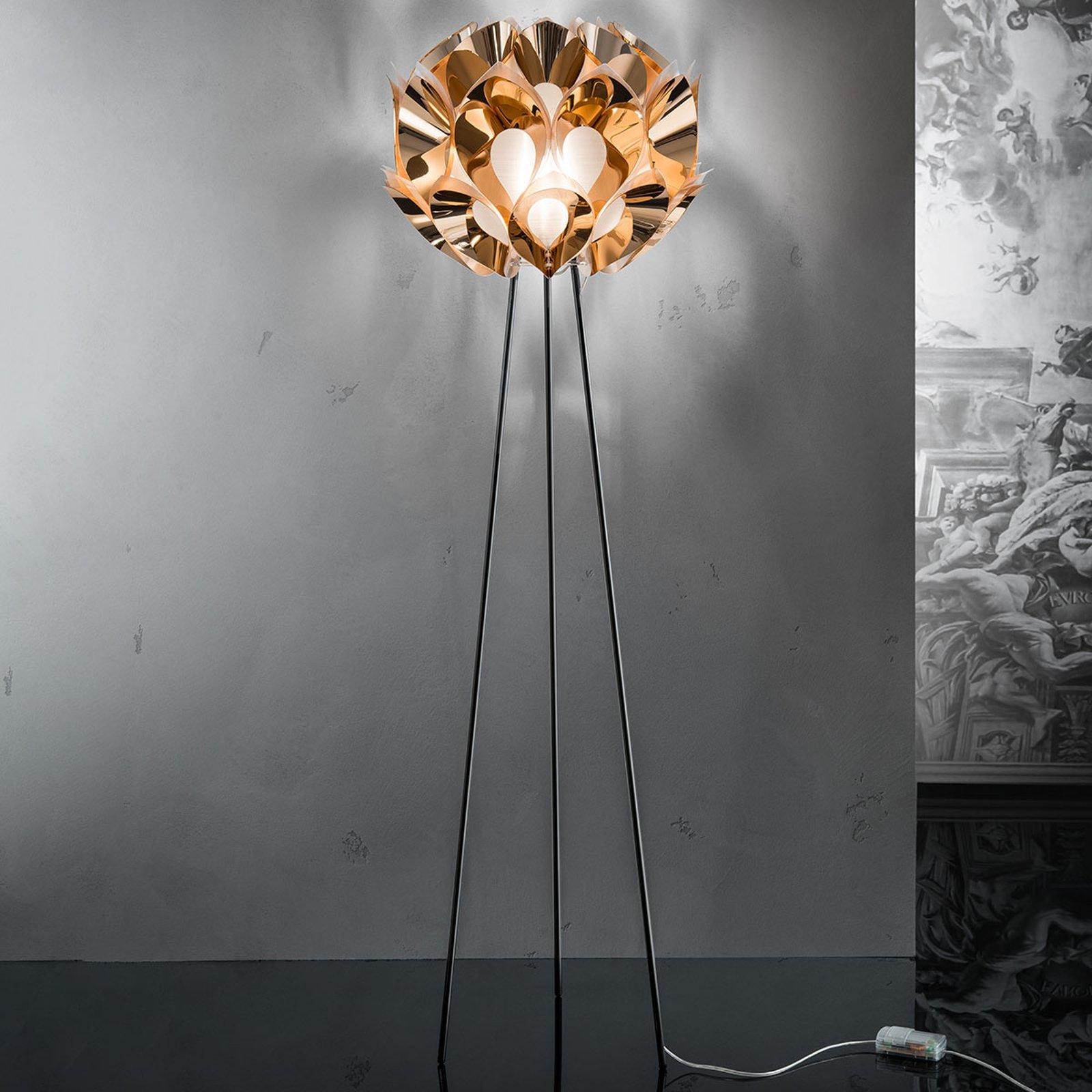 Flora - designer-stålampe i kobber