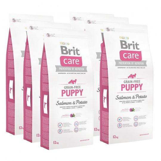 Brit Care Puppy All Breed Grain Free Salmon & Potato 6x12 kg