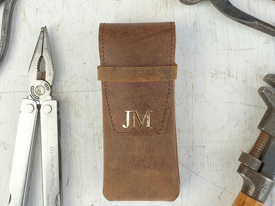 Leather Penknife Case Brown