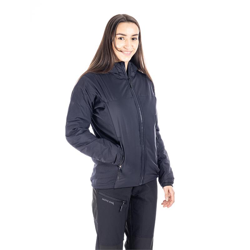 MoveOn Alta Isolight damejakke 44 Vannavstøtende vindtett jakke i Marine