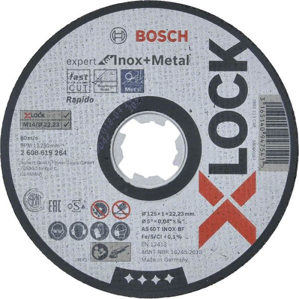 Bosch Expert for Inox + Metal Kappskive X-LOCK 115 × 1 × 22,23 mm