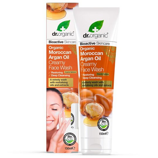 Dr. Organic Moroccan Argan Oil Creamy Face Wash, 150 ml