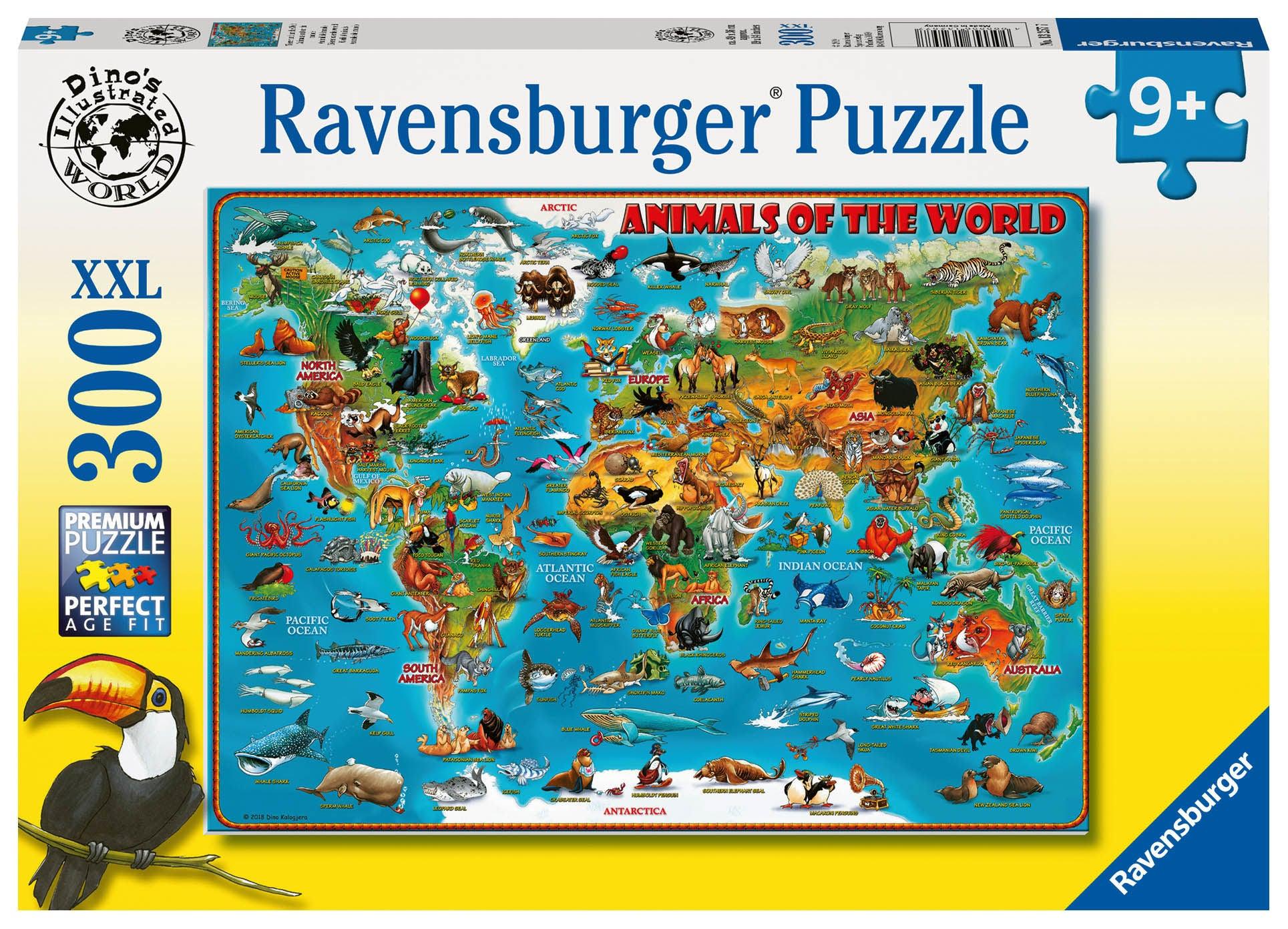 Ravensburger Pussel Djurens Värld 300 Bitar