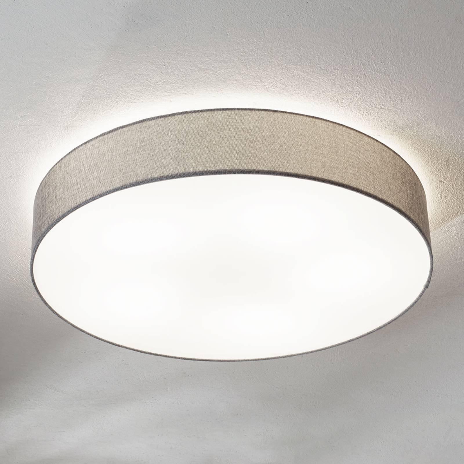 Grå taklampe Pasteri med skjerm i lin 76 cm
