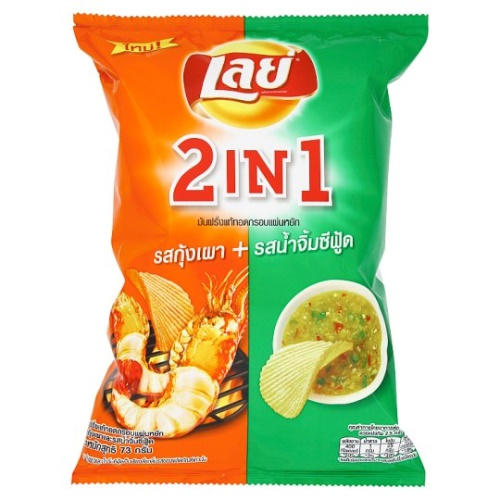 LAYS 2in1 Chips Kung Pao & Sea Sauce 73g