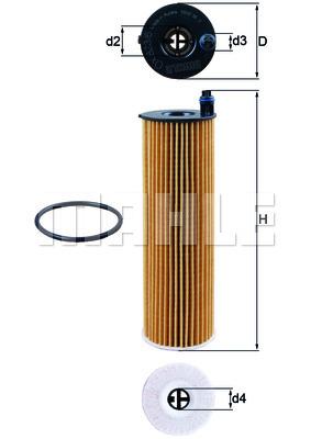 Öljynsuodatin MAHLE ORIGINAL OX 823/6D