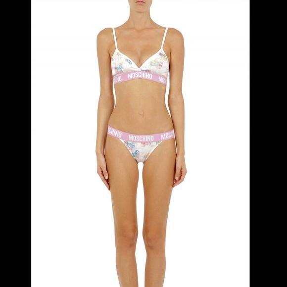 Moschino Women's My Little Pony Bra Briefs Set Two Piece Bikini White TSH5090 - IT36|XXS