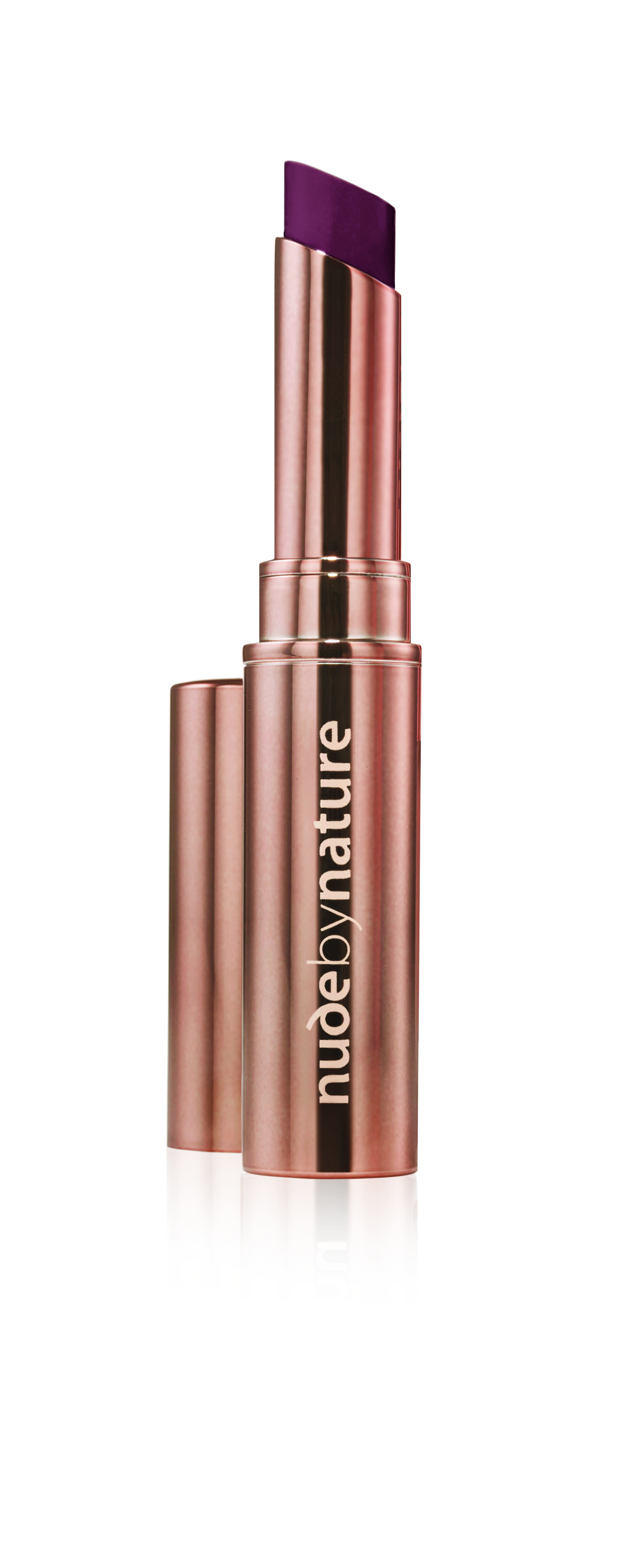Nude by Nature - Creamy Matte Lipstick - 10 Aubergine