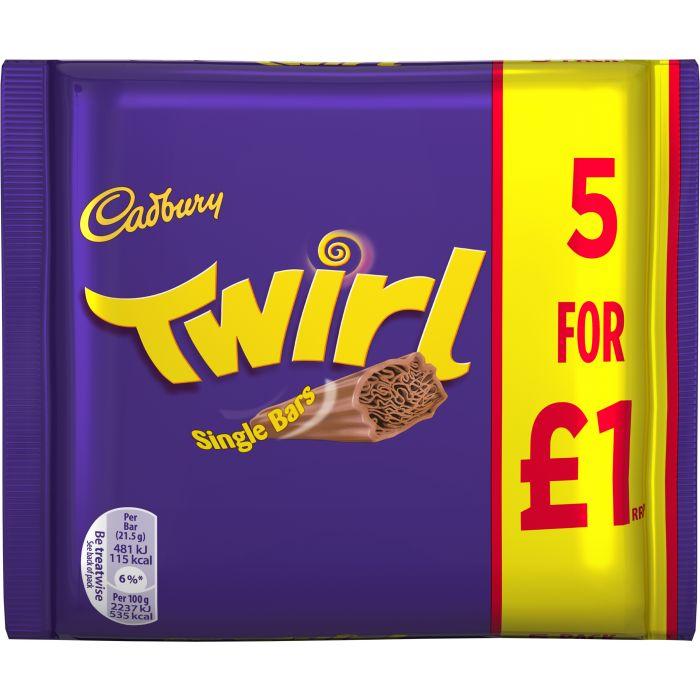 Cadbury Twirl 5-pack 100g