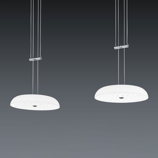BANKAMP Vanity -riippuvalo, 2-lamp., mattanikkeli