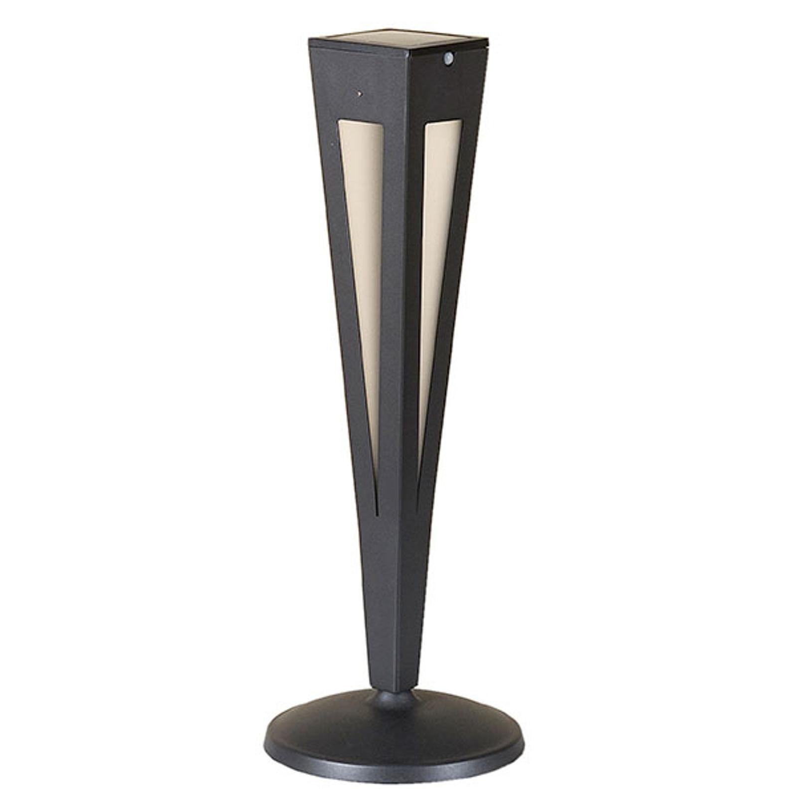 Aurinkokäyttöinen LED-soihtu Tinka, 62 cm, harmaa