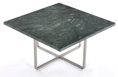 Ninety 60x60 soffbord - Grön indio/stomme rostfritt stål