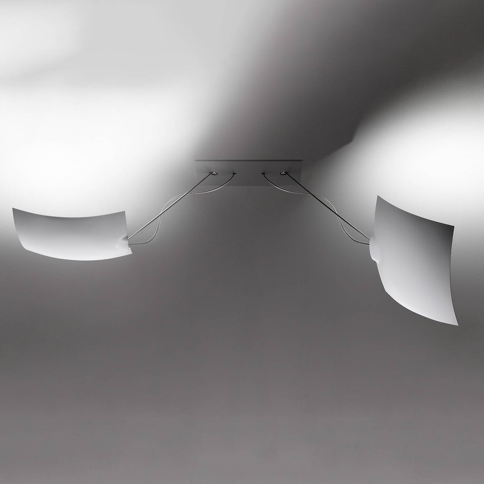 Ingo Maurer 2x18x18-LED-kattovalaisin 2-lamppuinen