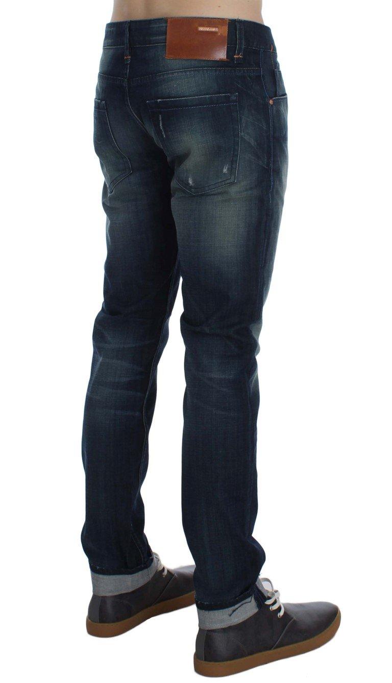 ACHT Men's Denim Straight Fit Jeans Blue SIG30494 - W34