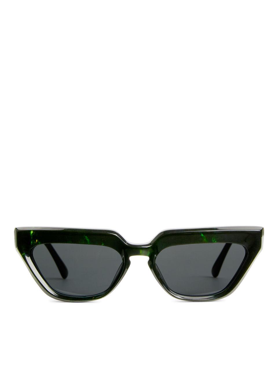 Cat-Eye Acetate Sunglasses - Black