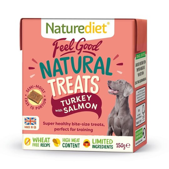 Naturediet Treat Kalkon & Lax 150 g