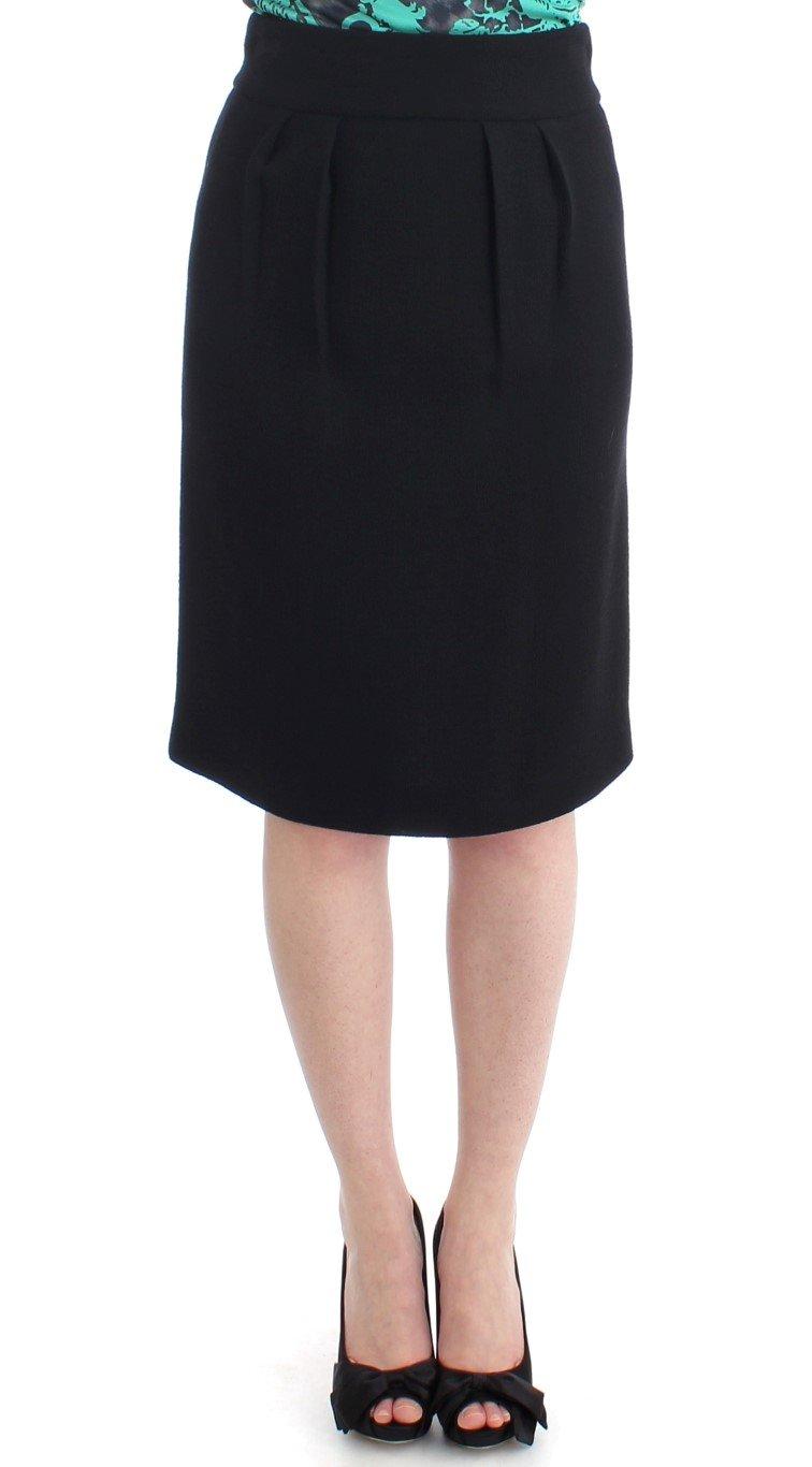 Cavalli Women's Pencil Skirt Black SIG11633 - IT40|S