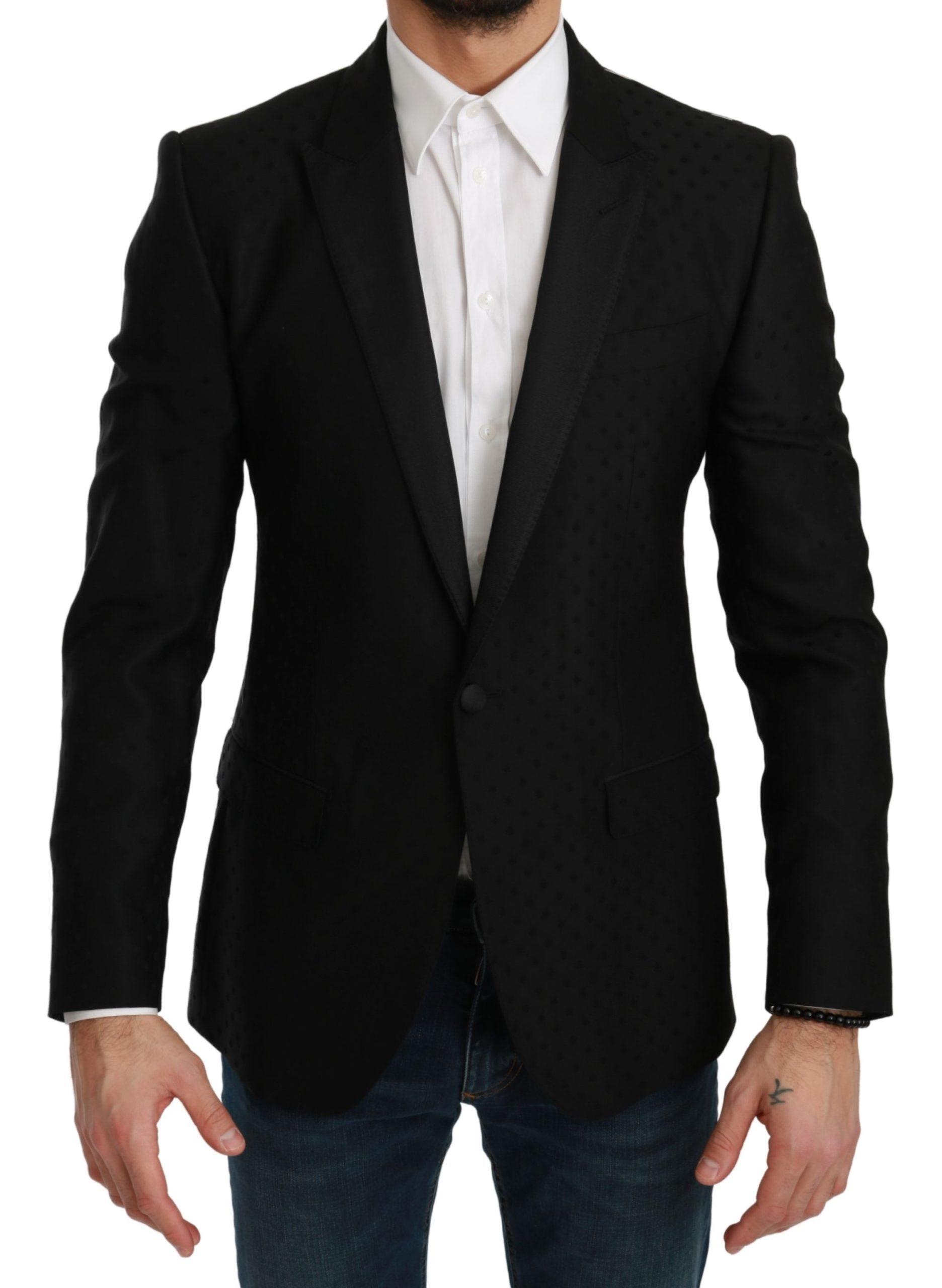 Dolce & Gabbana Men's Slim Fit MARTINI Blazer Black KOS1733 - IT46 | S