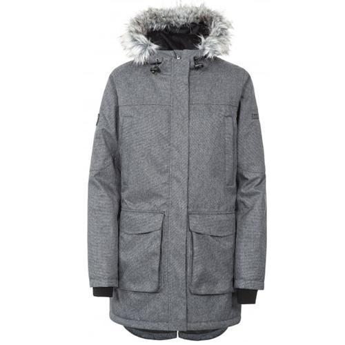 Trespass Women's Waterproof Parka Jacket Navy Thundery - Grey S