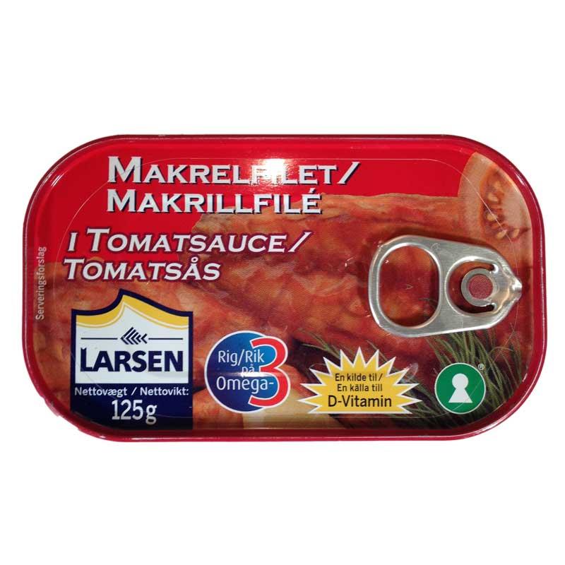 Makrillfilé i tomatsås nyckelhålsmärkt - 33% rabatt