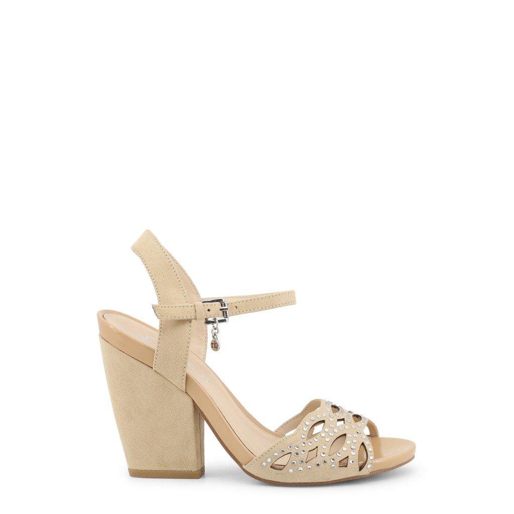 Roccobarocco Women's Sandal Brown RBSC0LZ03CAM - brown EU 35