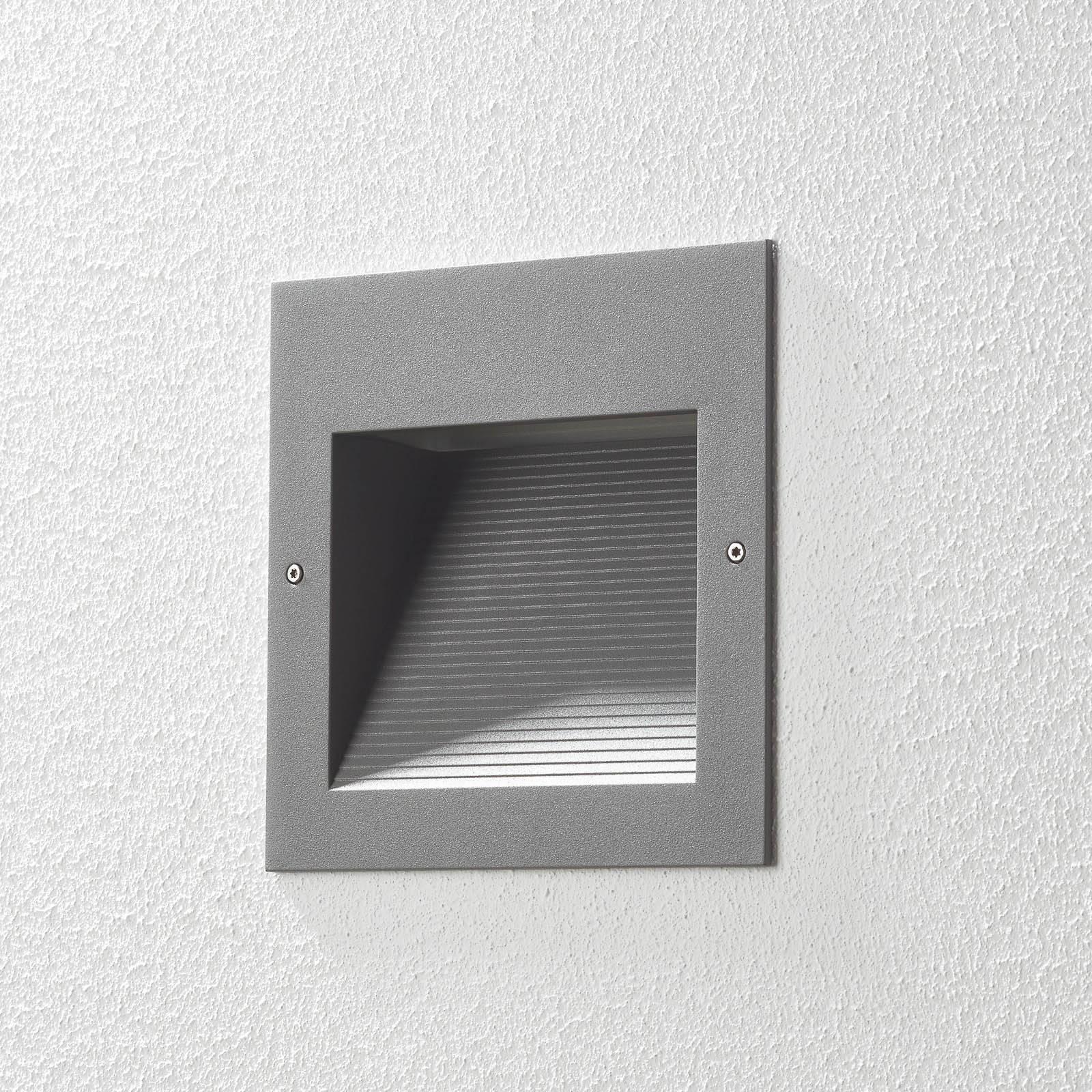 BEGA 24203 LED-seinäuppovalo 3000K himmennys hopea