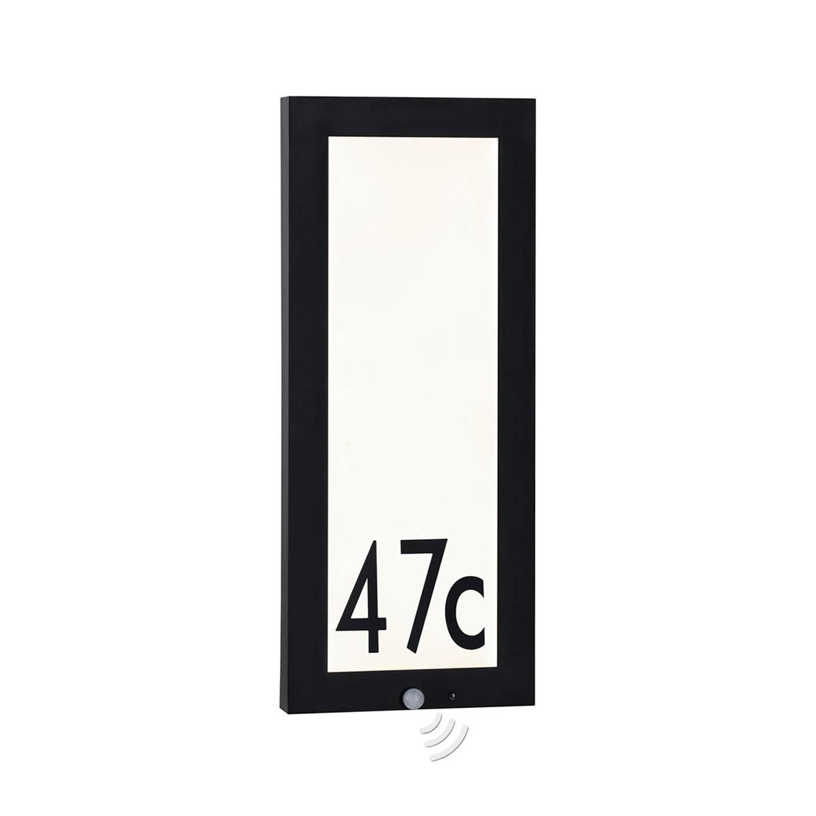Paulmann utevegglampe Panel med sensor 25x60 cm