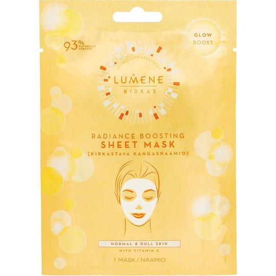 KIRKAS Radiance Boosting Sheet Mask, Lumene Kangasnaamiot