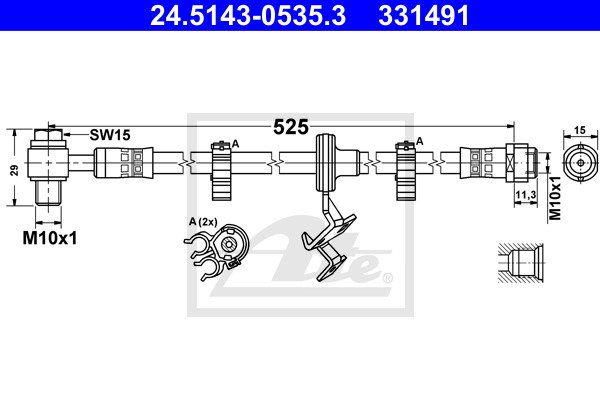 Jarruletku ATE 24.5143-0535.3