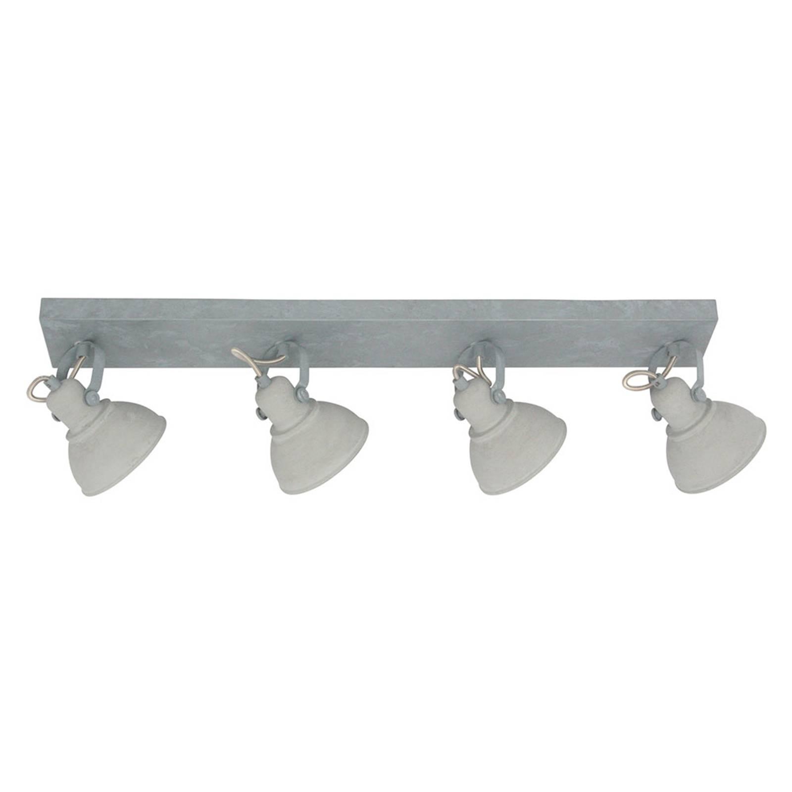 LED-kattokohdevalo Santo, 4-lamppuinen harmaa