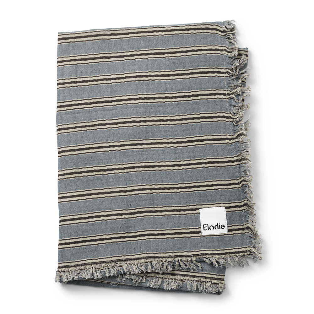Soft Cotton Blanket - Sandy stripe