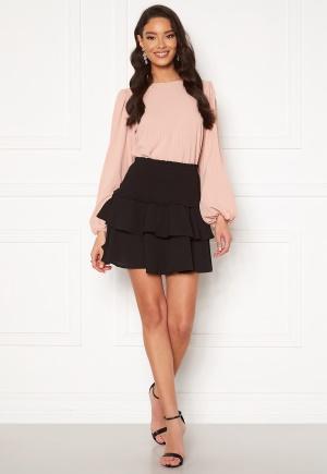 ONLY Nova Lux Mette Smock Skirt Solid Black XL