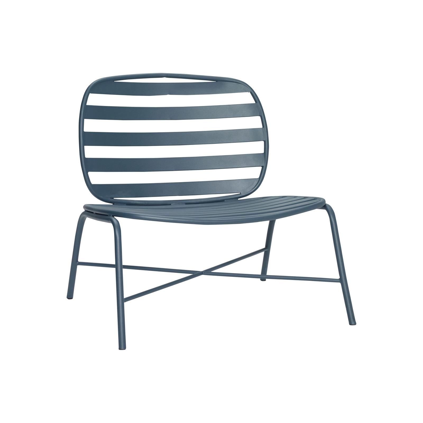 Lounge stol utomhus grön metall, Hubsch