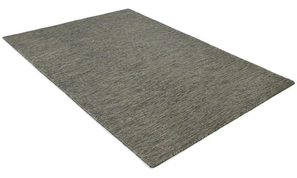 Afro mørk gråblå - håndvevd ullteppe