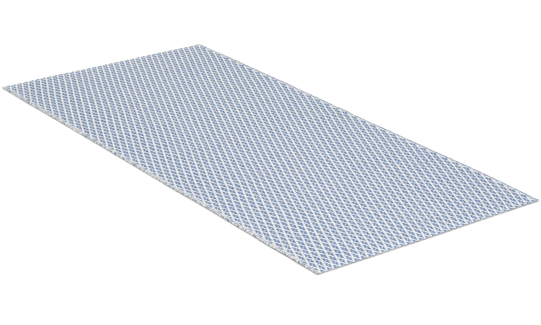 Sigyn blå - plastteppe
