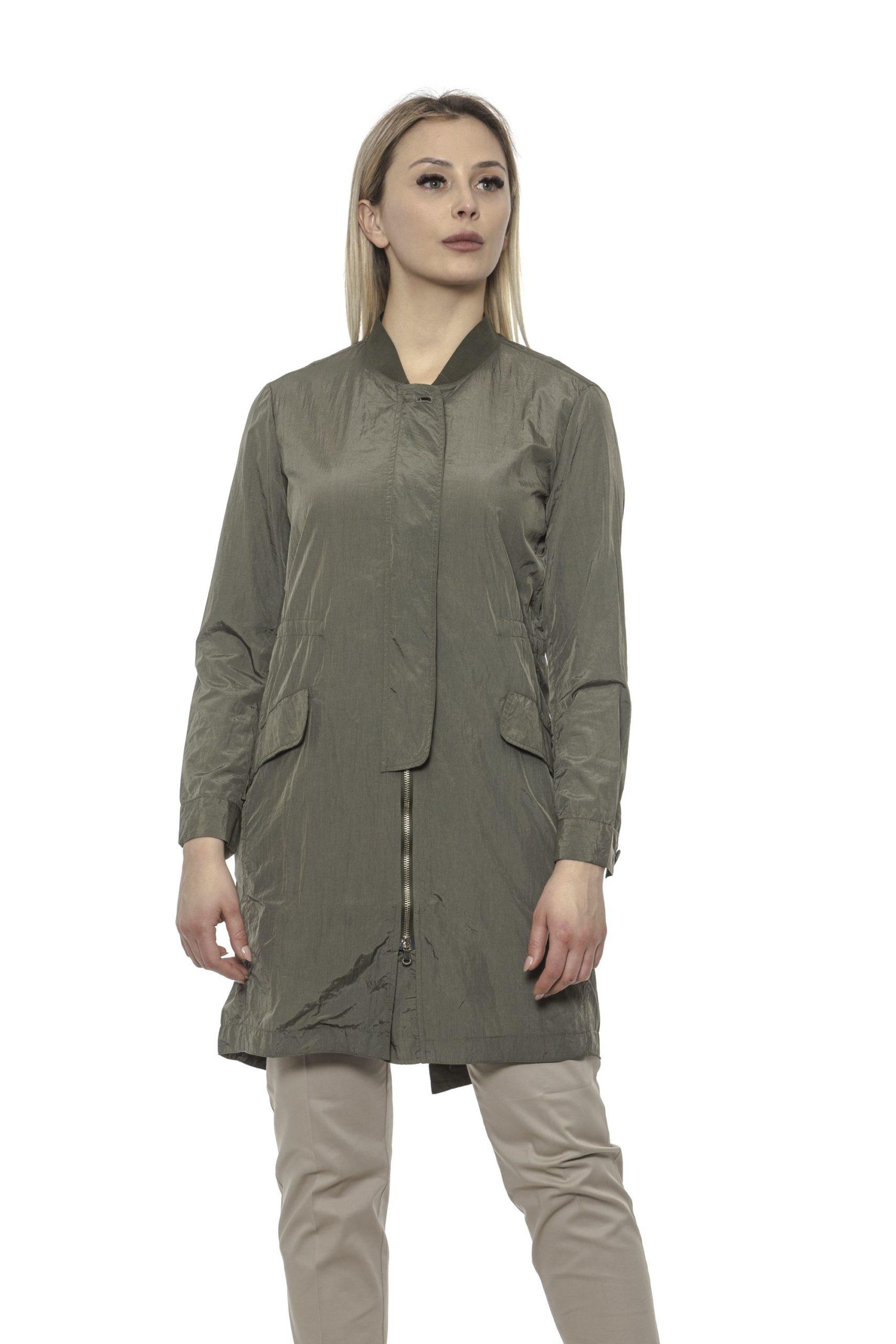 Alpha Studio Women's Oliva Coat Green AL1374703 - IT40   XS