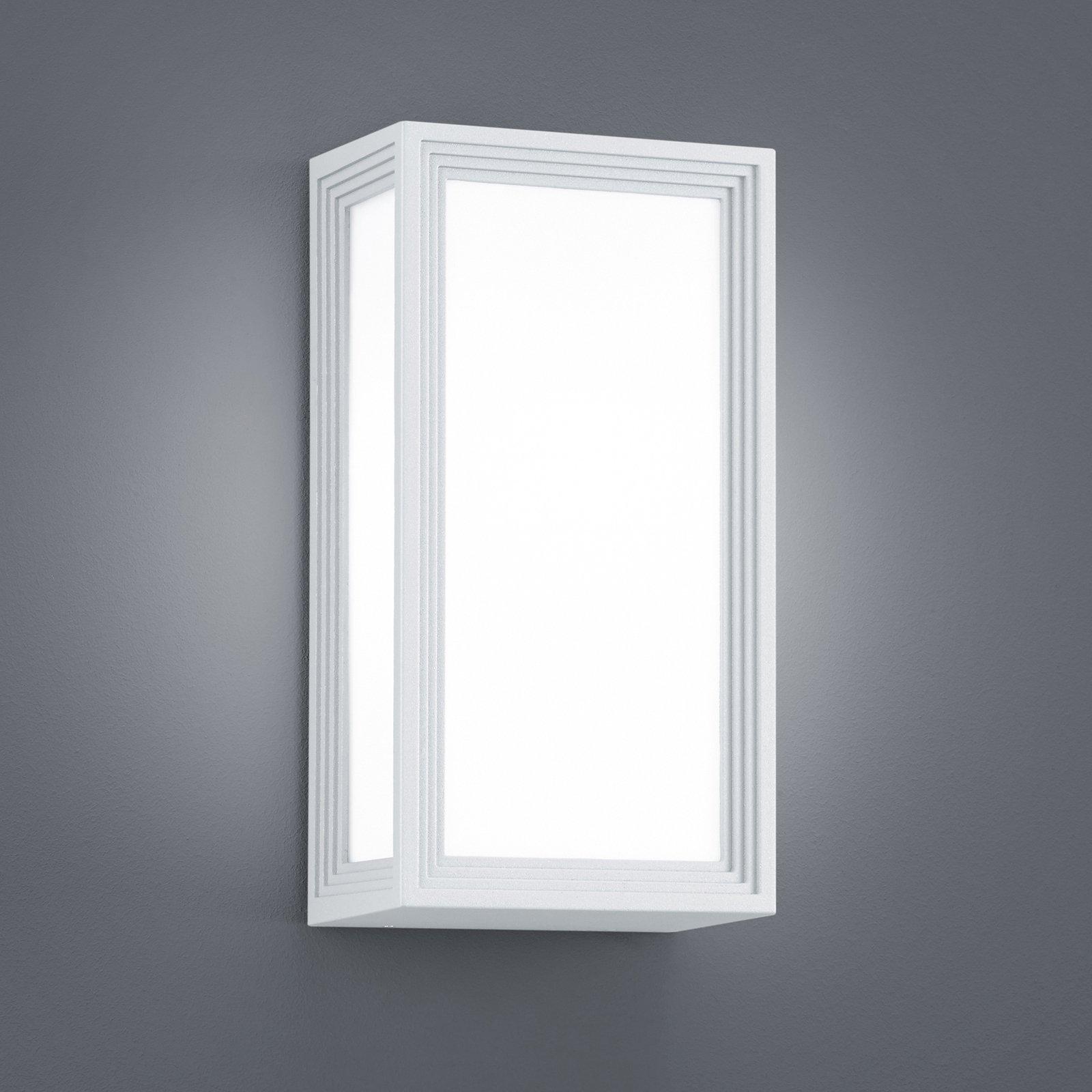 Utendørs LED-vegglampe Timok, hvit