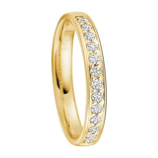 Diamantring i 18K guld, 61